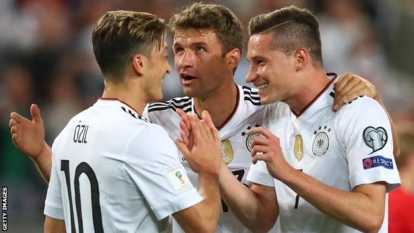 Champions Germany replace Brazil at top of Fifa world rankings