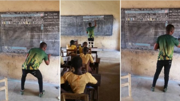 Microsoft to support man who drew computer on blackboard to teach ICT