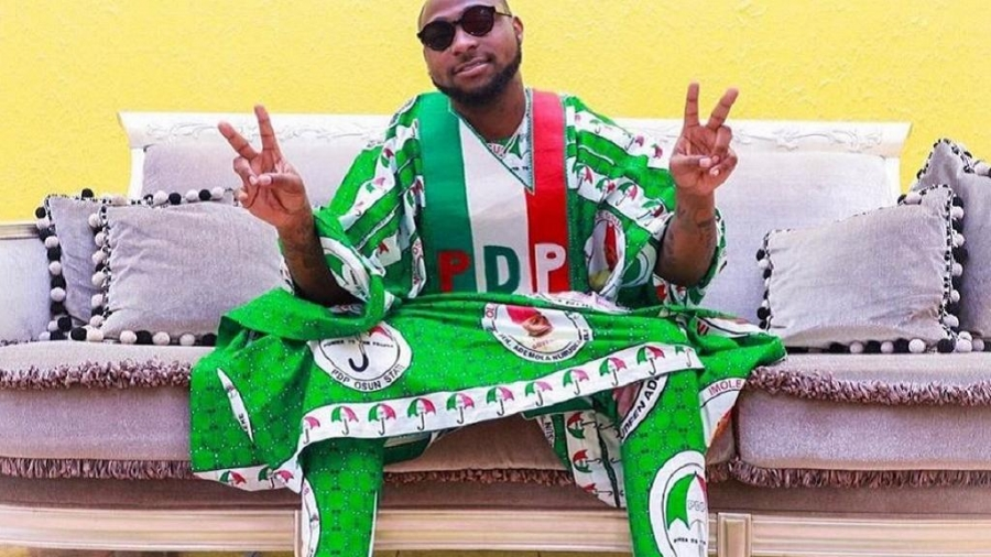 Nigeria's Davido campaigns for opposition PDP