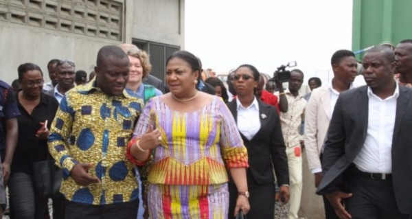 First Lady tours Lavender Hill project site