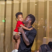 These photos of Sulley Muntari and son Jamal are too cute to handle