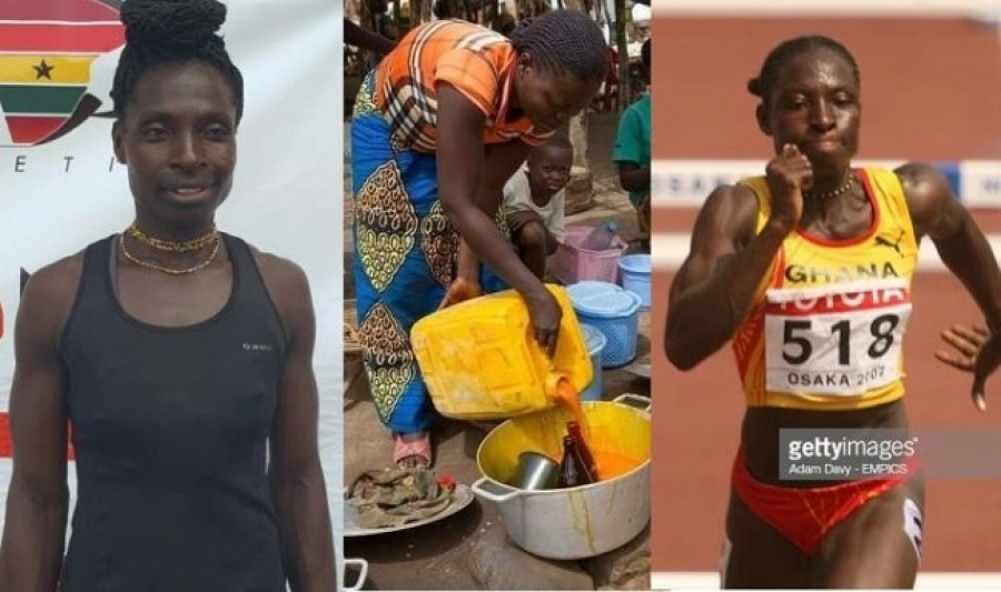 Ghanaian athlete, Margaret Simpson now sells cooking oil for a living