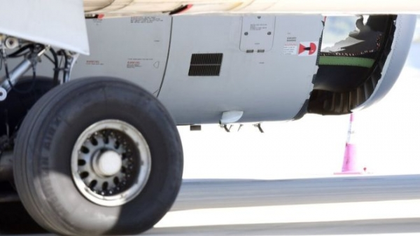 China Eastern plane lands at Sydney with hole in engine